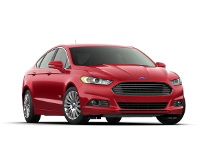 2014 Ford Fusion Energi sedan is Ford's newest plug-in hybrid; it has an EPA-estimated range of 620 miles when starting with a full tank of gas and fully charged battery.