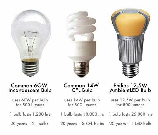 Three light bulbs