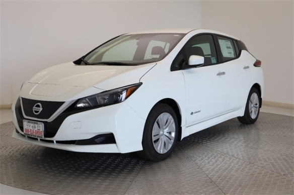 white 2019-Nissan-LEAF